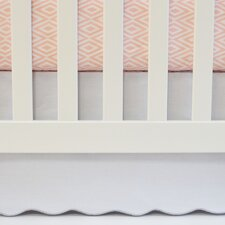 Flat Panel Scallop Crib Skirt