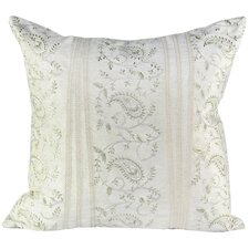 Velvet Pillow with Metallic Embroidery and Lace