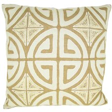 Greek Key Jute Pillow