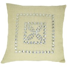 Jewel Frame Jute Pillow