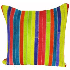 Striped Leather Pillow