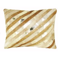 <strong>Design Accents LLC</strong> Diagonal Stripe Leather Pillow