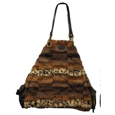 Faux Fur Satchel Tote Bag