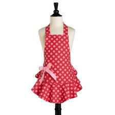 Red and Pink Polka Dot Children's Bib Josephine Apron