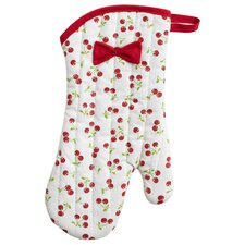 Reto Cherries Oven Mitt with Bow