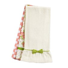 Coral Spring Rose Bunch Towel Trio