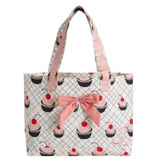 Cherry Cupcakes Tote Bag with Bow