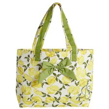 Summer Lemons Tote Bag with Bow