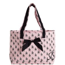 French Poodle Tote Bag with Bow
