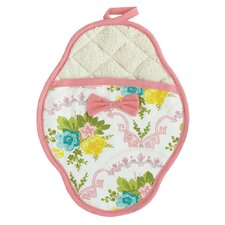 Scalloped Floral Scalloped Pot Mitt