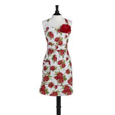 Cottage Rose Red Courtney Apron