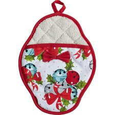 Jingle Bells Scalloped Pot-Mitt
