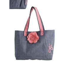 Denim Flower Tote Bag