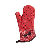 Red Bandana Bow with Oven Mitt