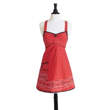 Red Bandana Bib Joan Apron