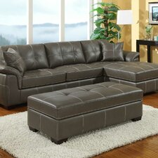<strong>Emerald Home Furnishings</strong> Manhattan Bonded Leather Loveseat Sectional