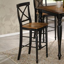 "Gatlinburg Cross Back 24"" Bar Stool"