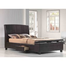 <strong>Emerald Home Furnishings</strong> Irvine Upholstered Storage Sleigh Bed