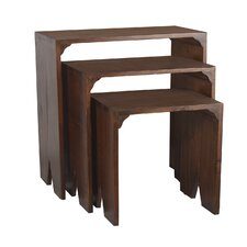 <strong>Antique Revival</strong> Natural Home 3 Piece Nesting Tables
