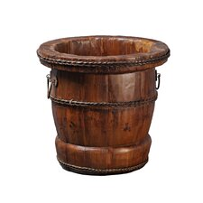 Chinese Wooden Bucket with Iron Handles