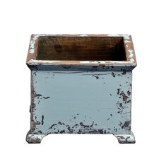 French Square Planter with Wooden Legs