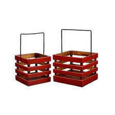 Square Caddy Planters (Set of 2)