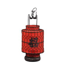 <strong>Antique Revival</strong> Chinese Cylindrical Lucky Lantern Figurine