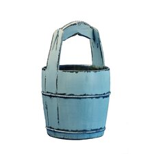 Vintage Water Bucket with Ridged Handle