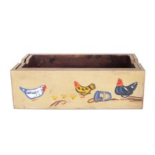 Rectangular Farm Art Planter (Set of 2)
