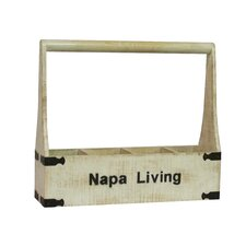 <strong>Antique Revival</strong> Napa Living 4 Bottle Wine Holder