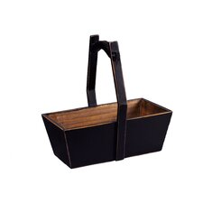 <strong>Antique Revival</strong> Rectangular Planter with Wooden Handle