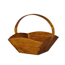 Fruit Tray with Wooden Handle