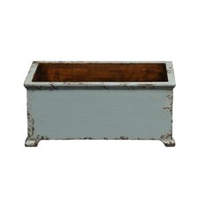 French Rectangular Planter with Wooden Legs