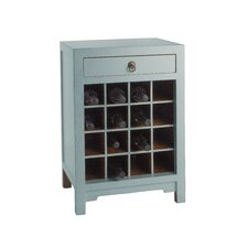 Wine Cabinet End Table with Drawer