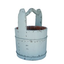 Vintage Water Bucket with Crested Handle