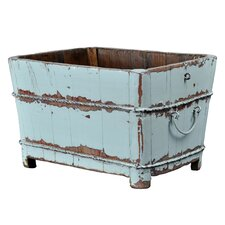 <strong>Antique Revival</strong> Distressed Chinese Square Sink with Iron Handles