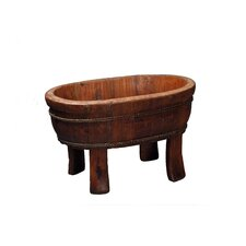 <strong>Antique Revival</strong> Vintage Oval Four Legged Basin