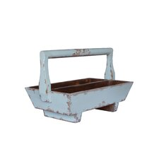 <strong>Antique Revival</strong> Half-Sized Double Tray with Wooden Handle