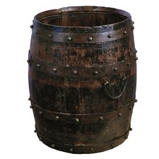 Vintage Studded Barrel with Iron Handles