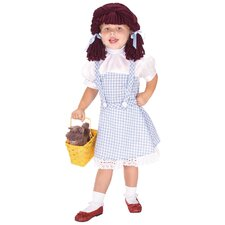 Wizard Of Oz Dorothy Child Dress and Yarn Wig
