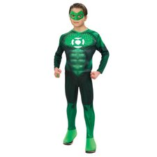 Green Lantern Standard Deluxe Light Up Muscle Chest Hal Jordan Teen Costume