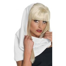 Lady Gaga Headscarf in White