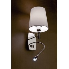 Kefren 1 Light Wall Lamp with Reading Light