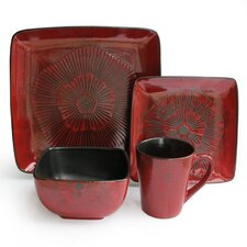 Laurette 16 Piece Dinnerware Set