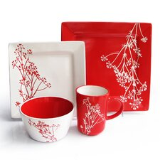 Blossom Branch 16 Piece Dinnerware Set