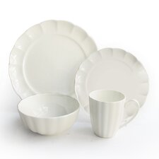 Scallop 16 Piece Dinnerware Set