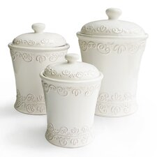 Bianca 3 Piece Scroll Canister Set