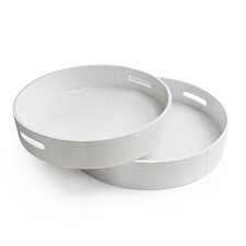 Aldene 2 Piece Round Serving Tray Set