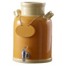 Ceramic Beverage Dispenser in Orange and Peach