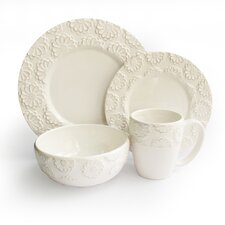 Bianca Flower 16 Piece Dinnerware Set